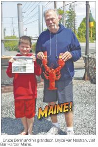 Bruce Berlin and his grandson, Bryce Van Nostran,