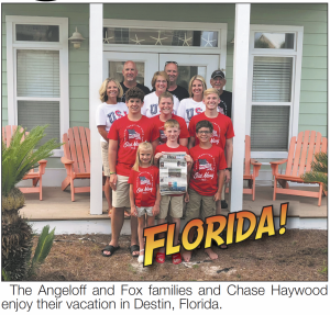 The Angeloff and Fox families and Chase Haywood