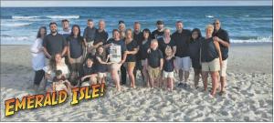 The Lenox, Herchek and Ellebruch families enjoy vacation at Emerald Isle, North Carolina.